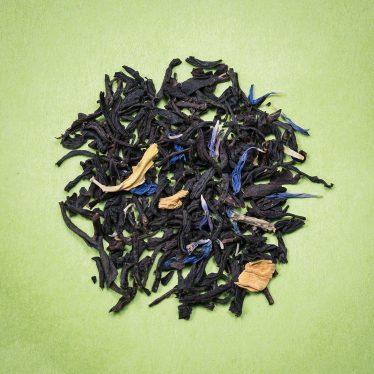 Thé Noir aromatisé jardin bleu