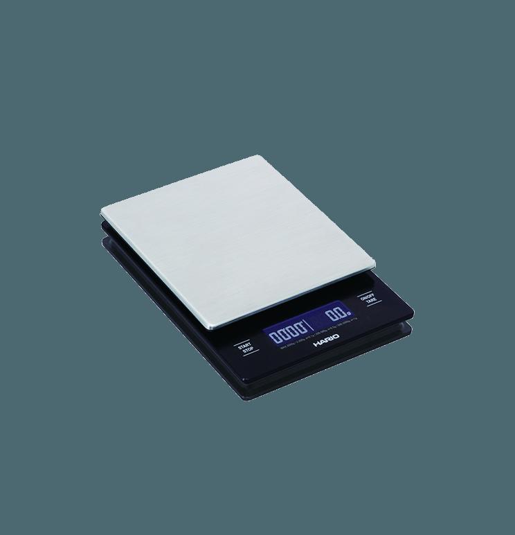 Balances chronomètres pour filtration V60 avec plateau en acier