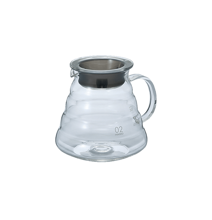 Carafe support en verre pour dripper V60 600 ml