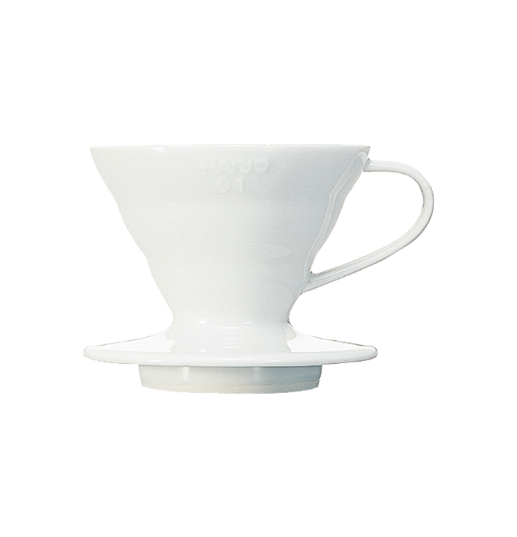 V60 Dripper en céramique blanc 1 à 2 tasses