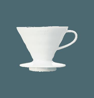 V60 Dripper en céramique blanc 1 à 4 tasses