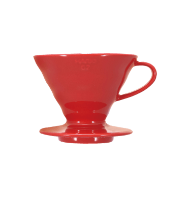 V60 Dripper en céramique rouge 1 à 4 tasses