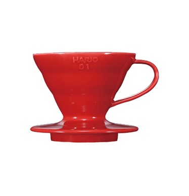 V60 Dripper en céramique rouge 1 à 2 tasses
