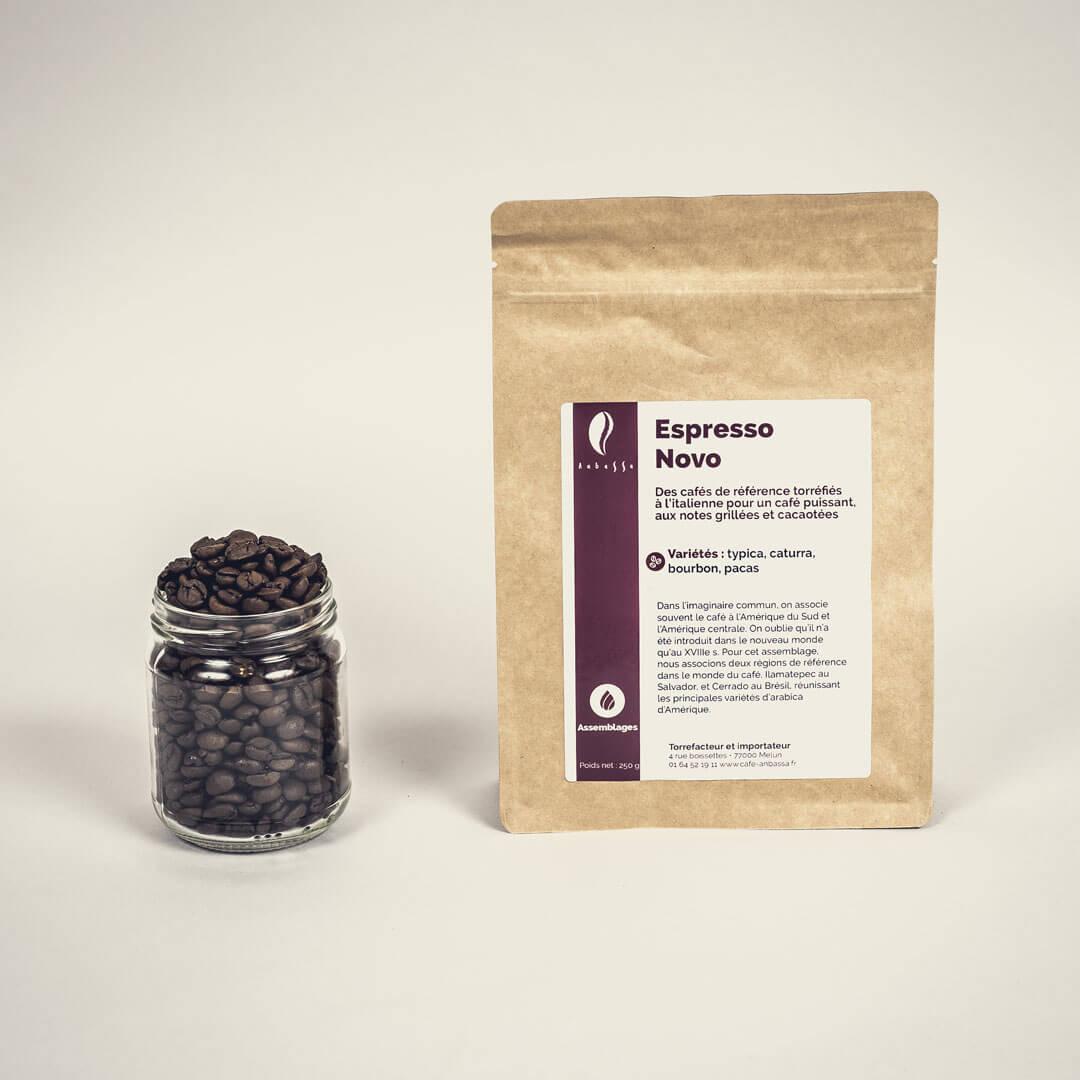 Anbassa Artisan Torrefacteur Assemblages Espresso Novo Cafe Sachet